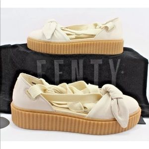 Puma x Fenty By Rihanna Tan I Creeper Bow Sandals